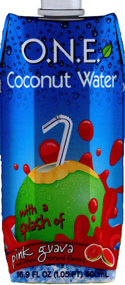 O.N.E. coconut water in Tetra Pak containers
