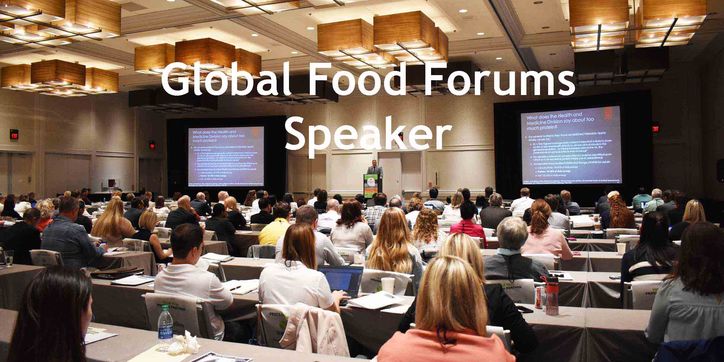 Global Food Forums Speaker