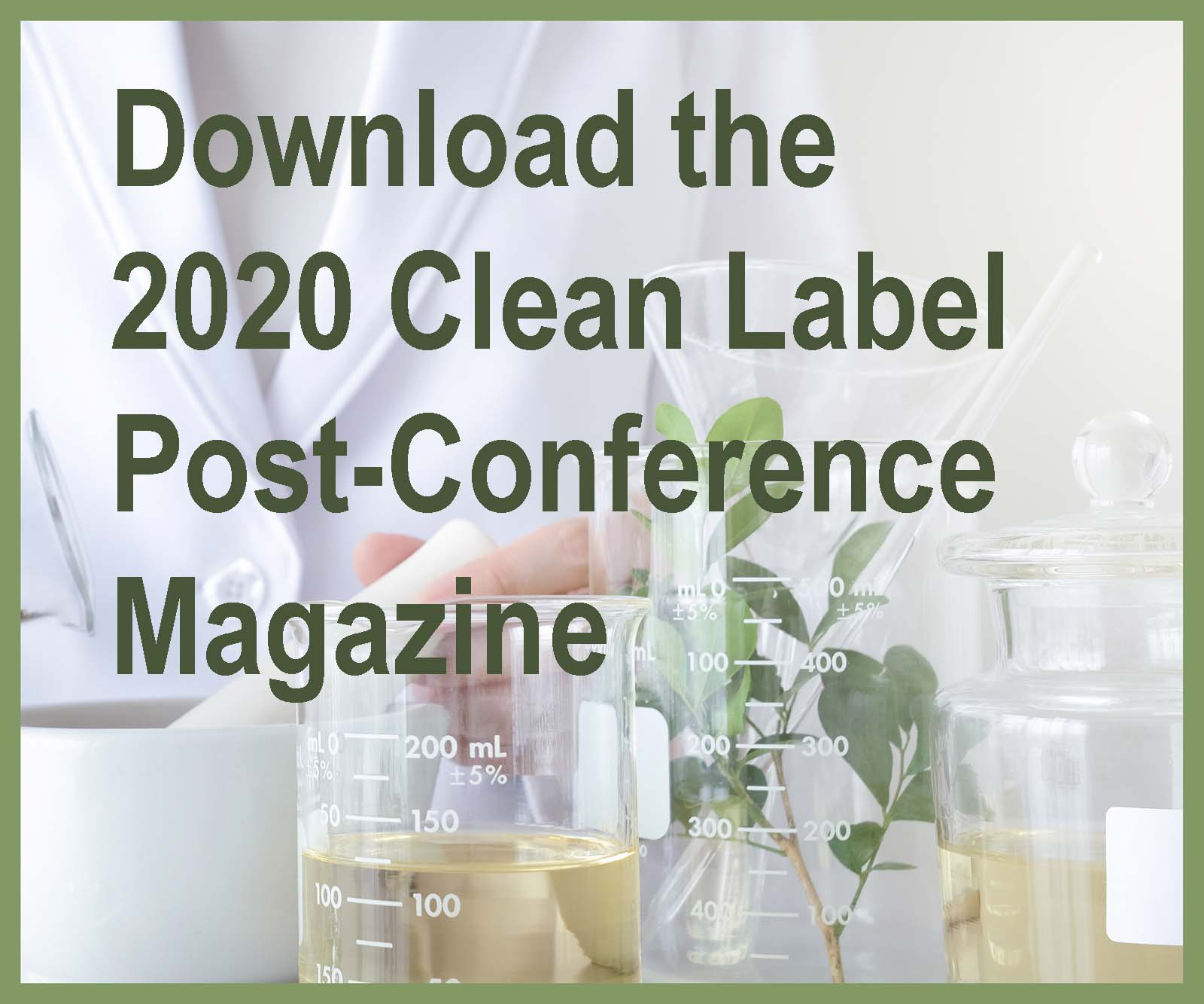 2020 Clean Label Post-Conference Magazine Banner Ad