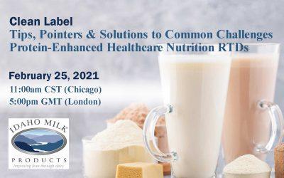 Idaho Milk Products' Webinar Scheduled for February 25, 2021