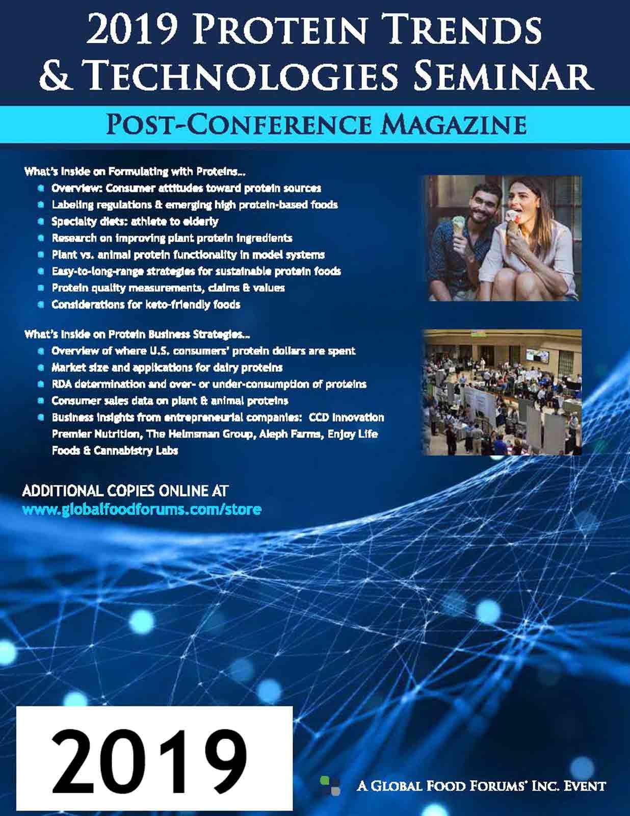 2019 PROTEIN TRENDS TECHNOLOGIES SEMINAR MAGAZINE COVER