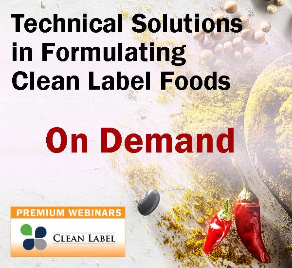 Global Food Forums Webinars - 2021 Clean Label Premium